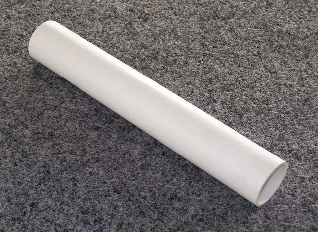 2152 - 303S front seat tube, 35mm PVC outdoor furniture tube incl end (1 x 2103)