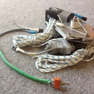 6112 - 80rpm mainsheet winch with switch and battery