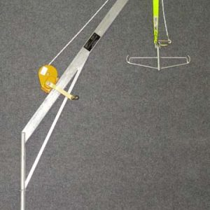 5312 - Flush mount C Crane. Gal steel (includes fall arrestor, spreader bar & painted winch