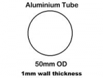4142 - 303W, 303S, mainmast main tube bare. (4.7m x 50mm diam tube).