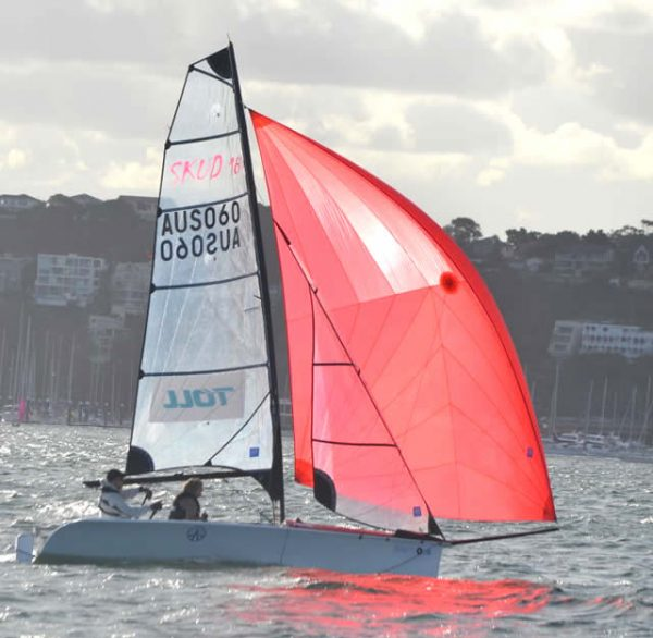 1090 - SKUD 18.2, complete boat ready to sail.