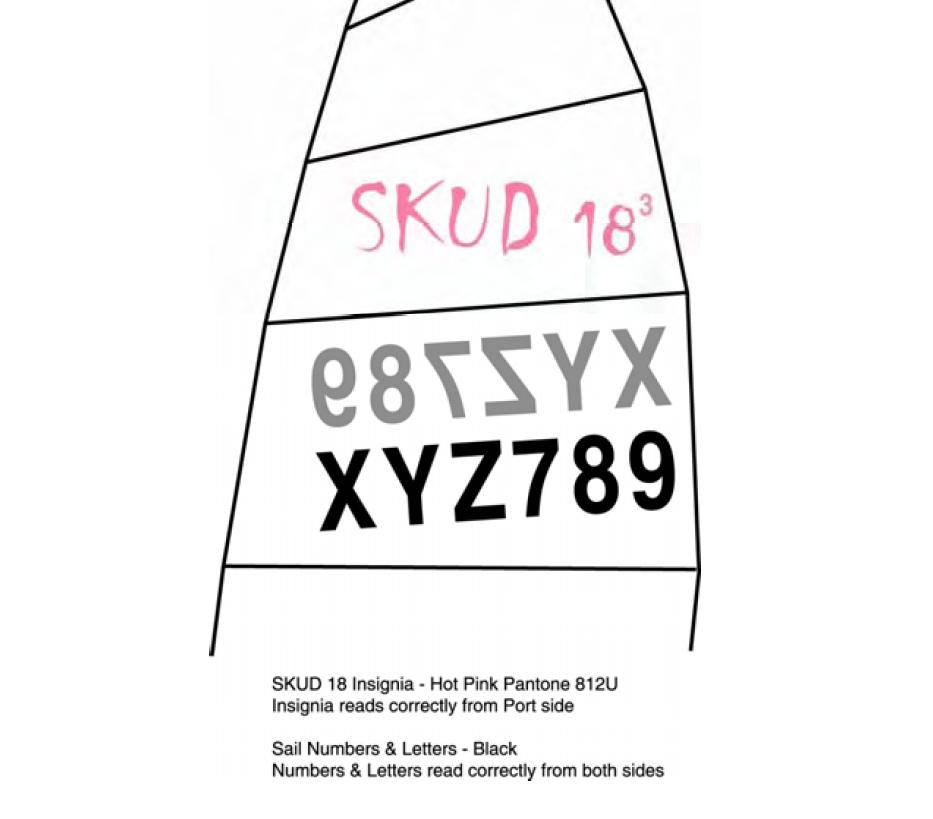 4603 - SKUD 18 sail numbers per digit